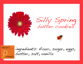 silly spring cookies