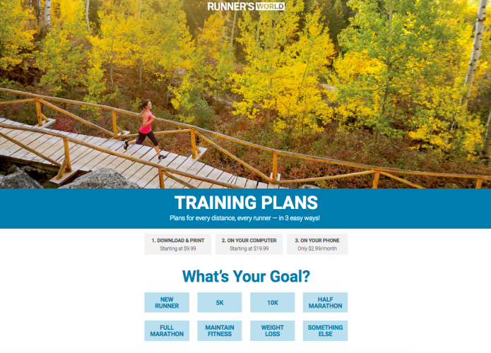 RW Training Plan Finder